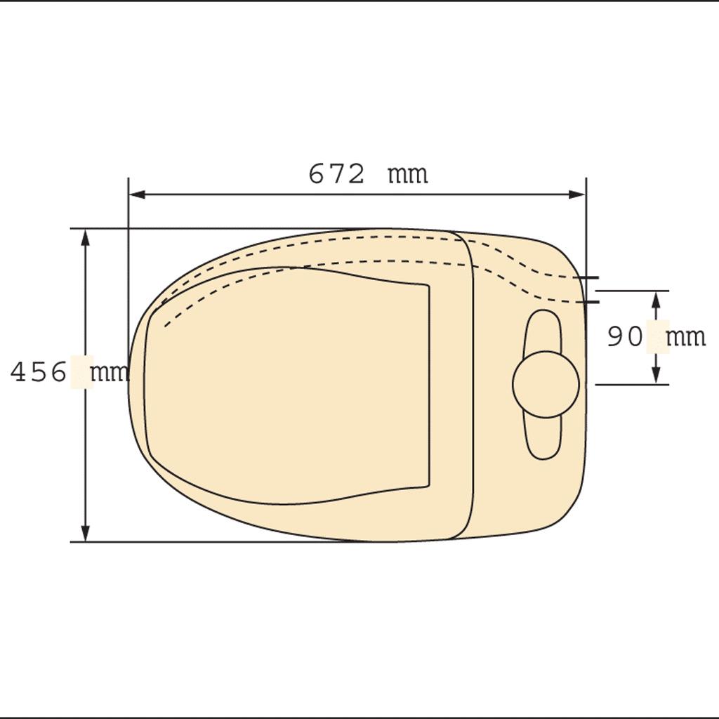 Separett Composting Toilet Measurements top view