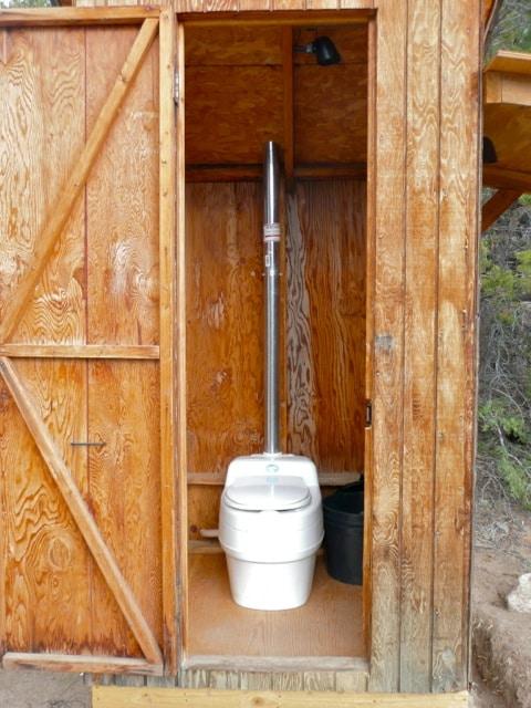 Separett composting toilet power free installation