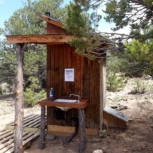 outhouse with Separett composting toilet